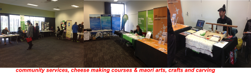 community services, cheese making courses & maori arts, crafts and carving