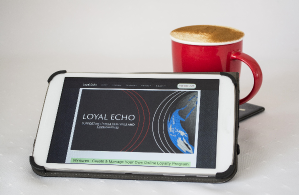 Loyal Echo on mobile - nice cuppa too