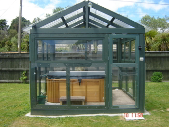 pool enclosure - front view