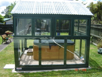 pool enclosure - side view