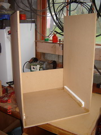 building the box - rear view